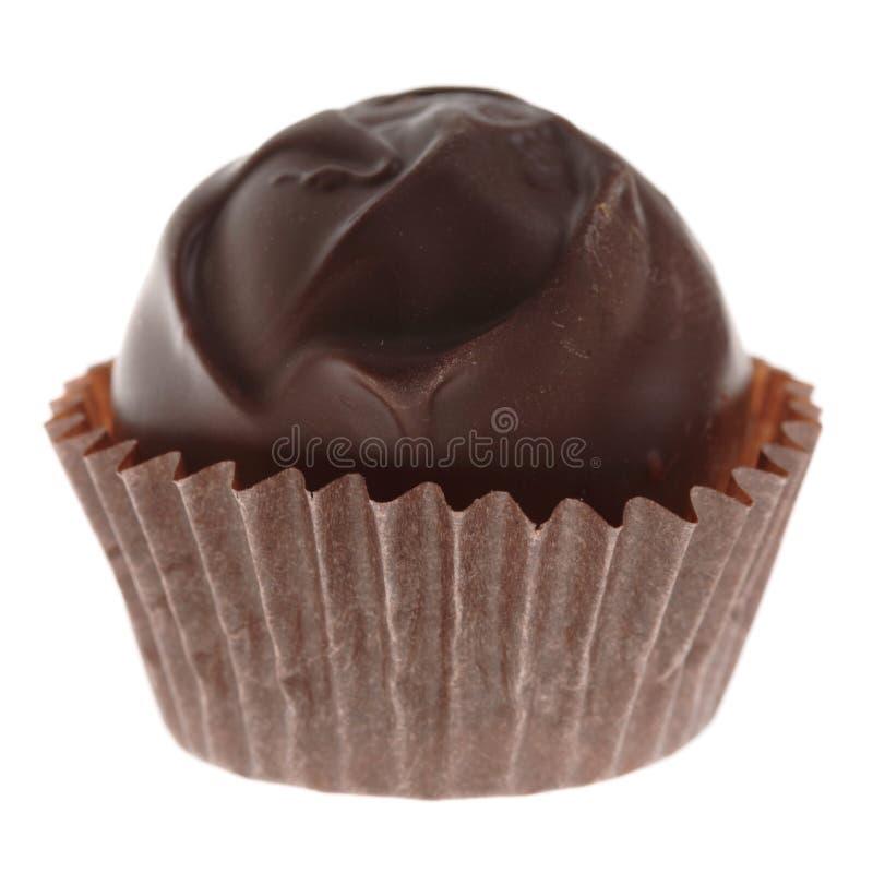 Köstliche, handgemachte Schokoladenpralinen stockbild