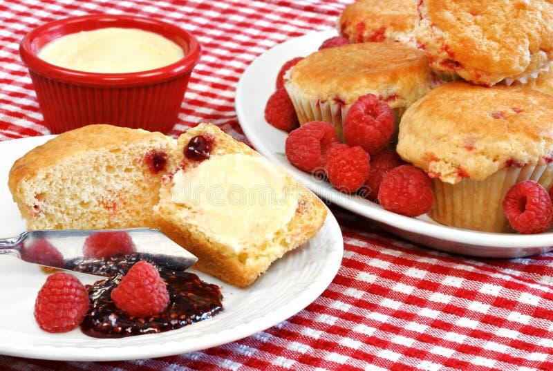 Köstliche Himbeere-Muffins lizenzfreies stockfoto