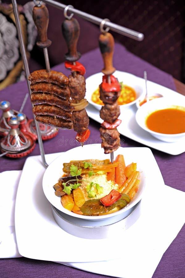 Köstliche kebabs lizenzfreie stockfotografie