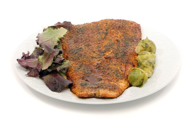 Köstliche Lachsmahlzeit lizenzfreie stockfotos