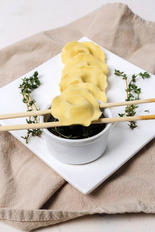 Köstliche Mehlklöße stockfotografie