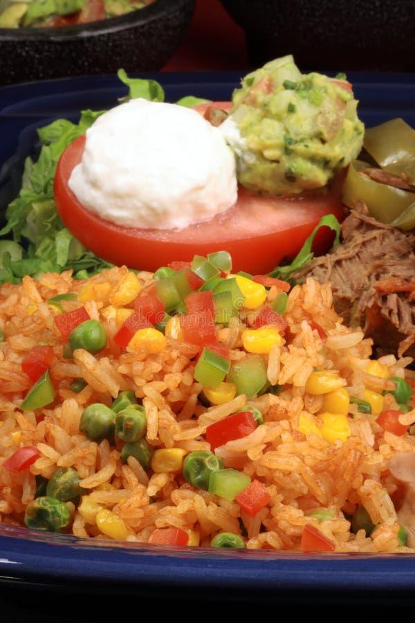 Köstliche mexikanische Rindfleischplatte stockbilder