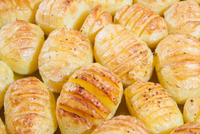 Köstliche Ofenkartoffeln stockbild