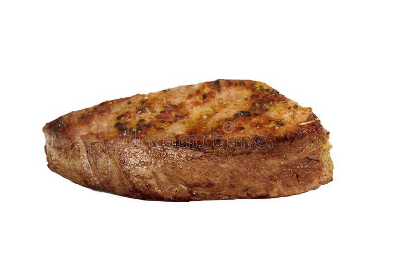 Köstliche und perfekte gegrillte Stange des Rindfleischabendessens stockbild
