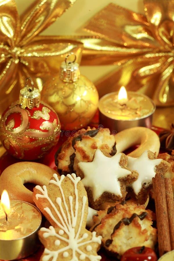 Köstliche Weihnachtsplätzchen stockbild
