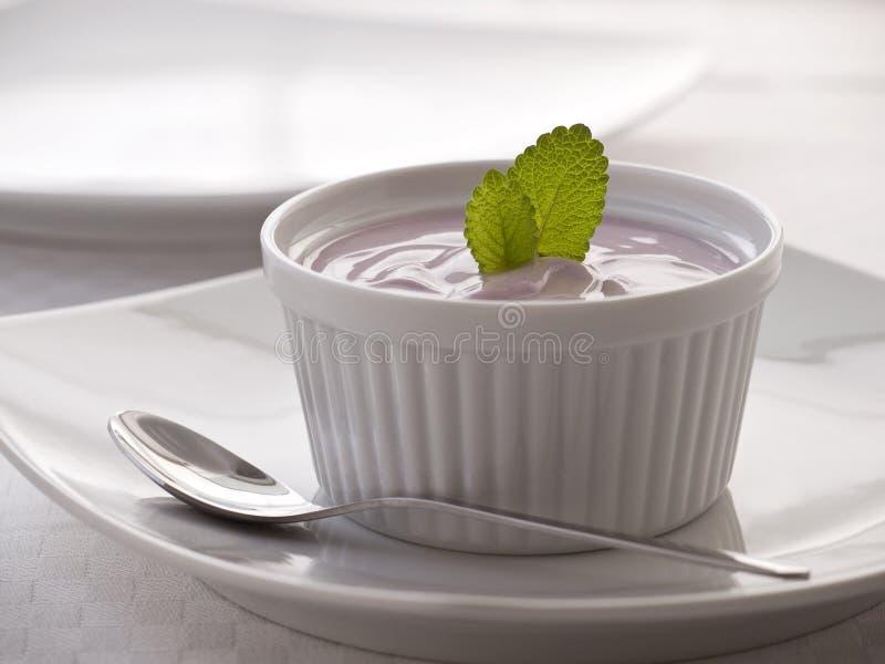 Köstlicher Erdbeerejoghurt stockfotografie