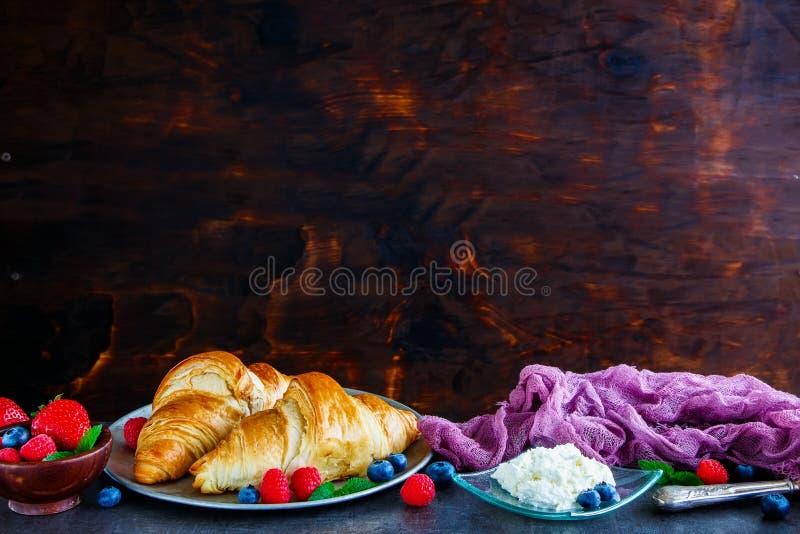 Köstlicher Frühstückssatz stockbilder