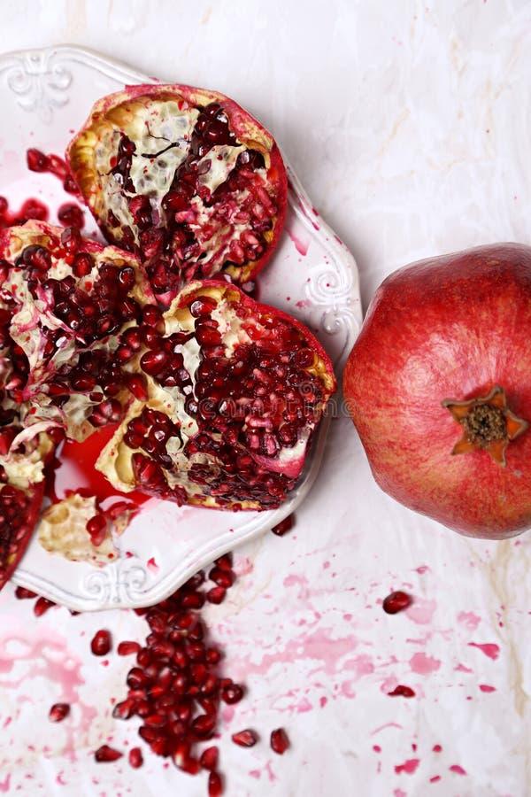 Köstlicher Granatapfel lizenzfreie stockfotos