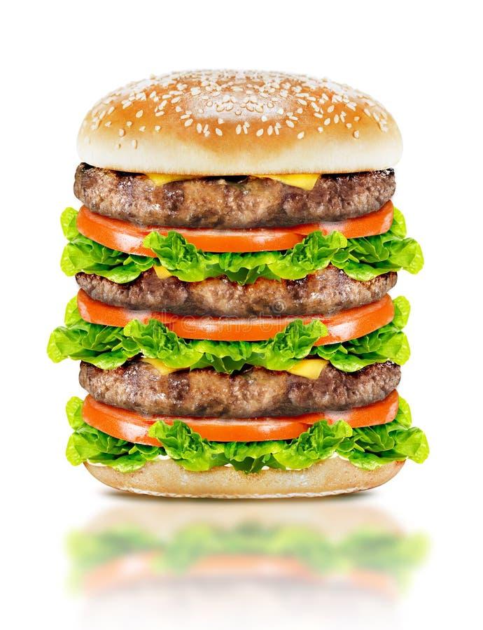 Köstlicher großer Burger stockfotografie