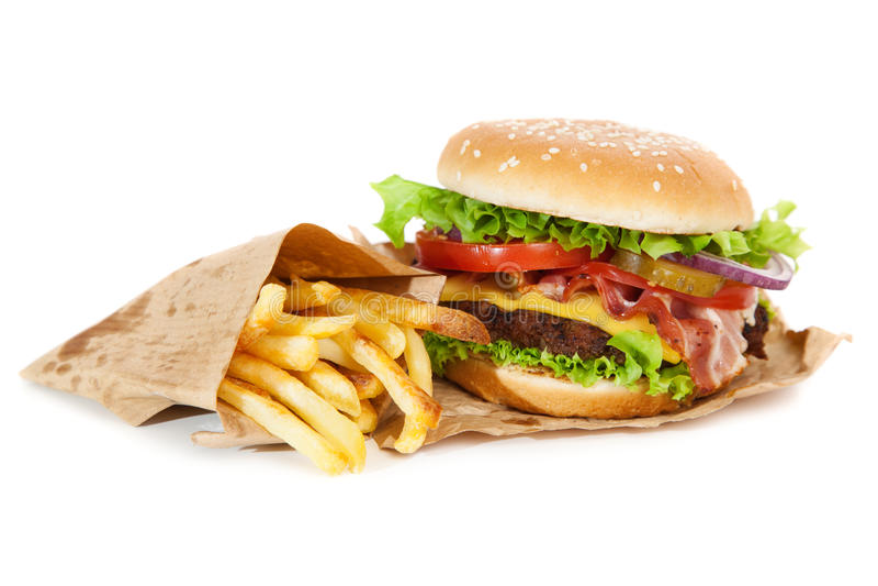 Köstlicher Hamburger und Fischrogen lizenzfreies stockbild