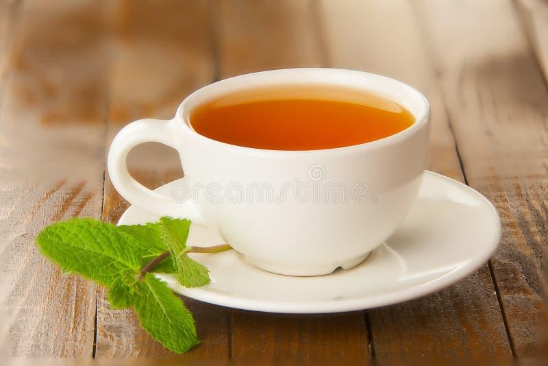 Köstlicher heißer Tee stockbild
