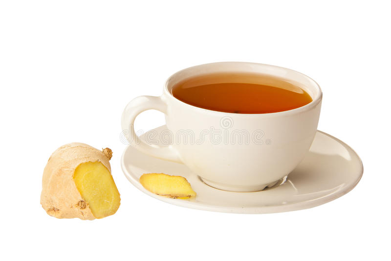 Köstlicher heißer Tee vom Ingwer stockbild