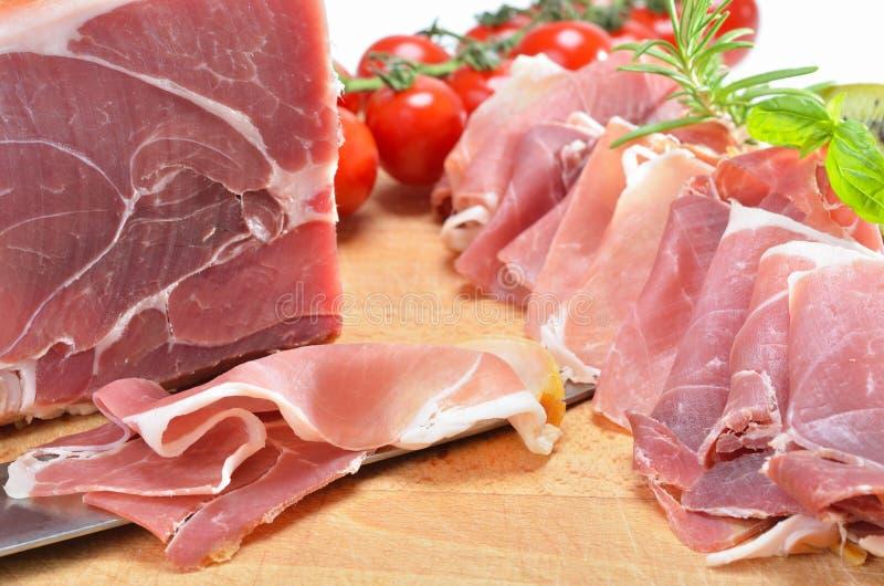 Köstlicher italienischer Schinken stockfoto