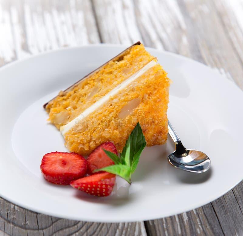 Köstlicher Kuchen stockbilder