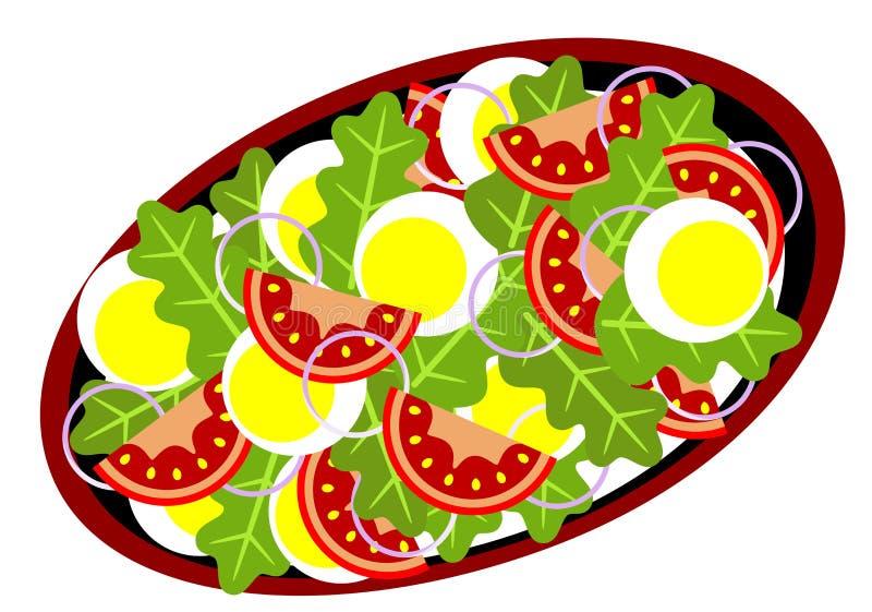 Köstlicher Salat lizenzfreie abbildung