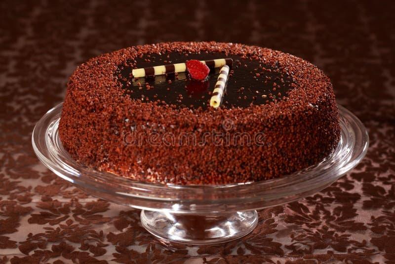 Köstlicher Schokoladenkuchen stockbilder