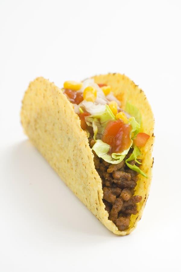 Köstlicher Taco, mexikanische Nahrung lizenzfreie stockbilder