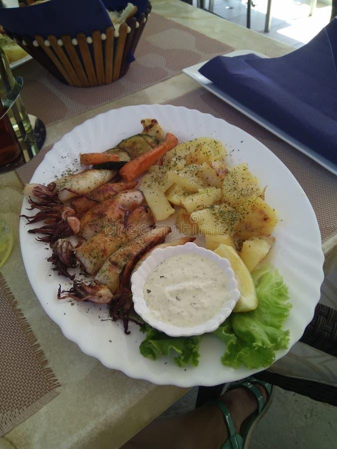 Köstlicher Teller in einem guten Restaurant stockfoto