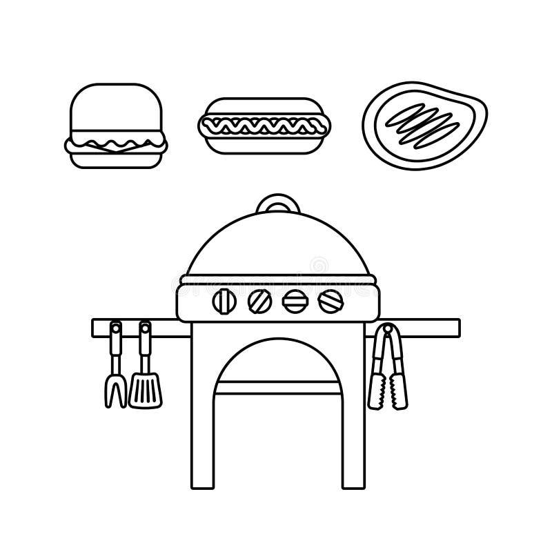köstliches bbq-Design stock abbildung