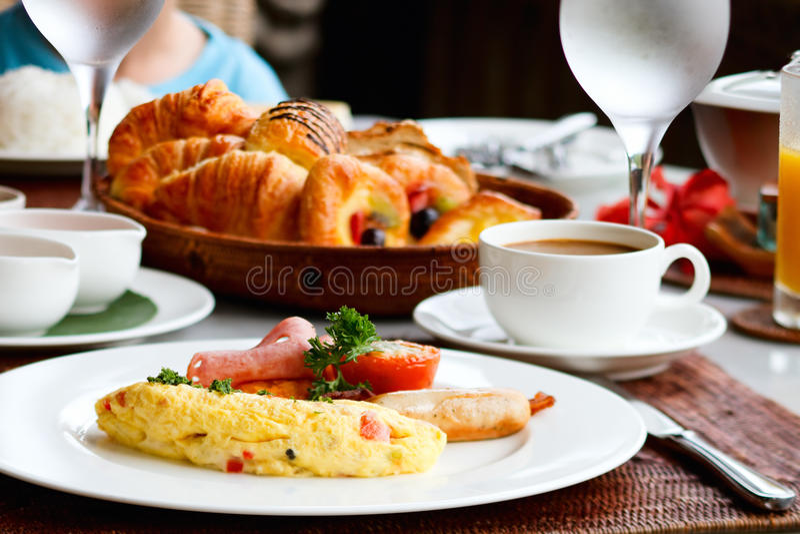 Köstliches Frühstück lizenzfreie stockbilder