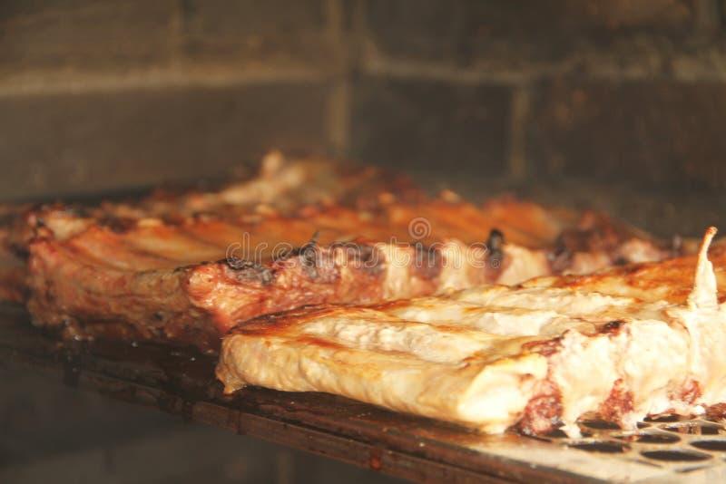 Köstliches Sao Paulo Brazil Tiermehl des Grillrippenschweinefleischnahrungsmittelrezeptdetails lizenzfreie stockfotografie
