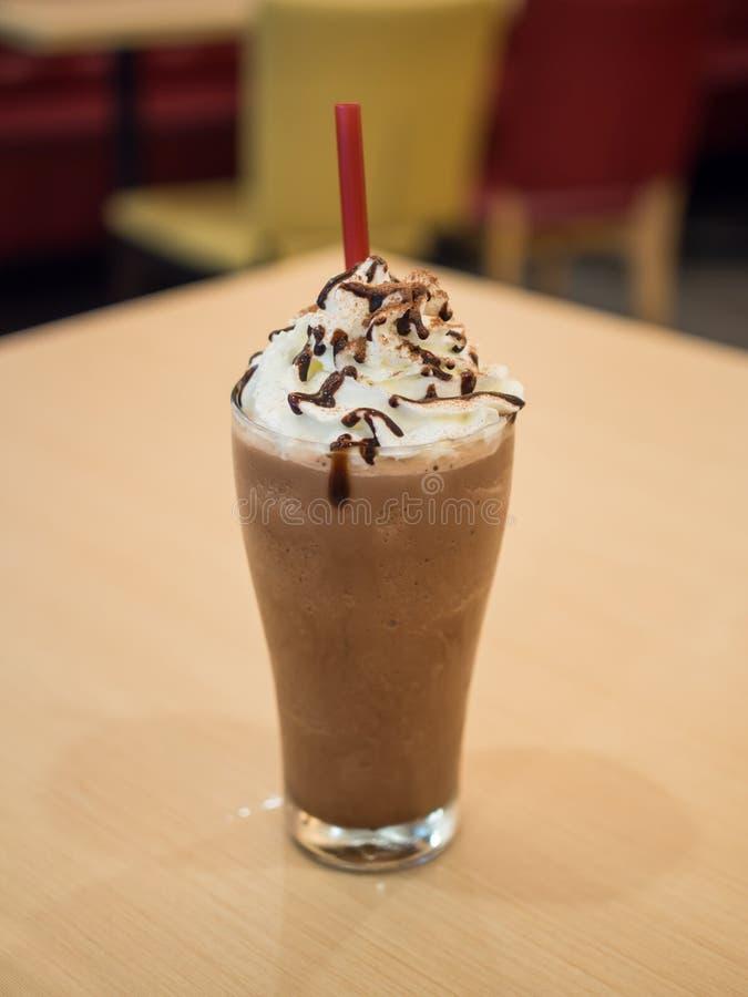 Köstliches Schokolade frappe stockfoto