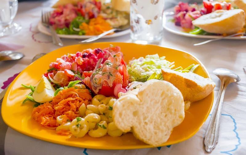 Köstliches und appetitanregendes madagassisches vegetarisches Lebensmittel stockfoto