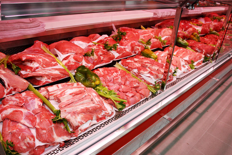 Köttavdelning fotografering för bildbyråer