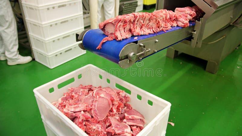 Köttbearbetningsanläggning arkivbilder