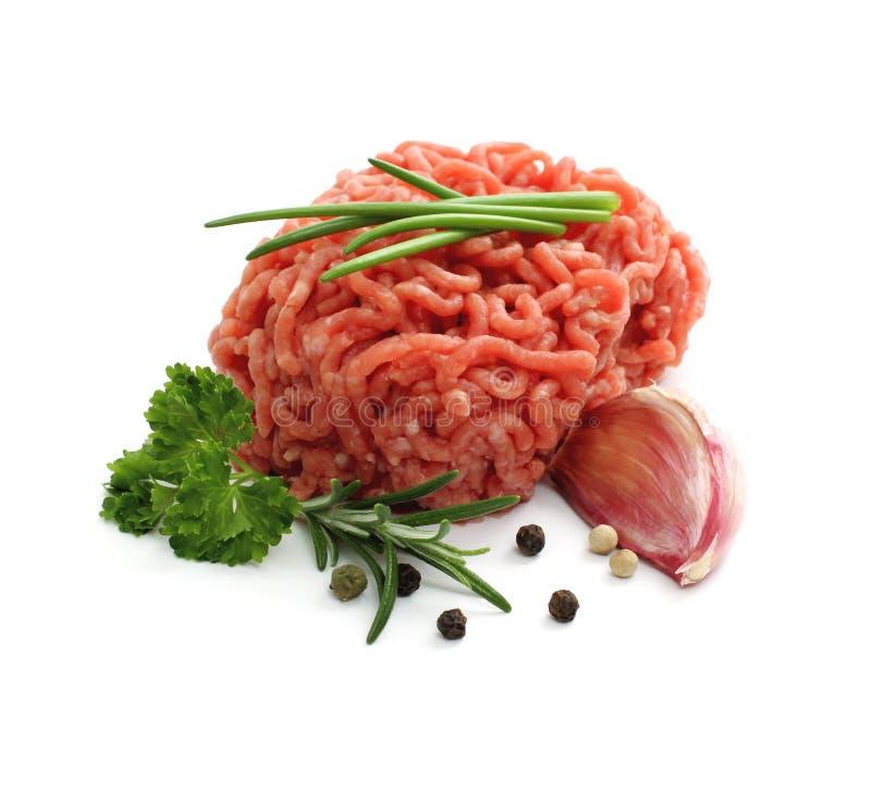 Köttfärsboll med örter arkivfoton