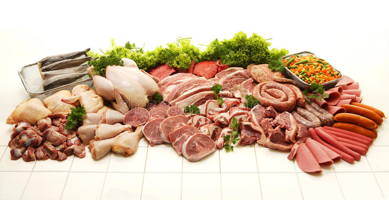 Köttsamling arkivfoton