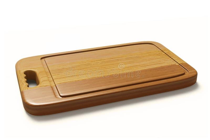 KöttTenderizer på träbräde på vit backgroundwooden plattan för kött- och grönsakträskärbrädan som isoleras på arkivbilder