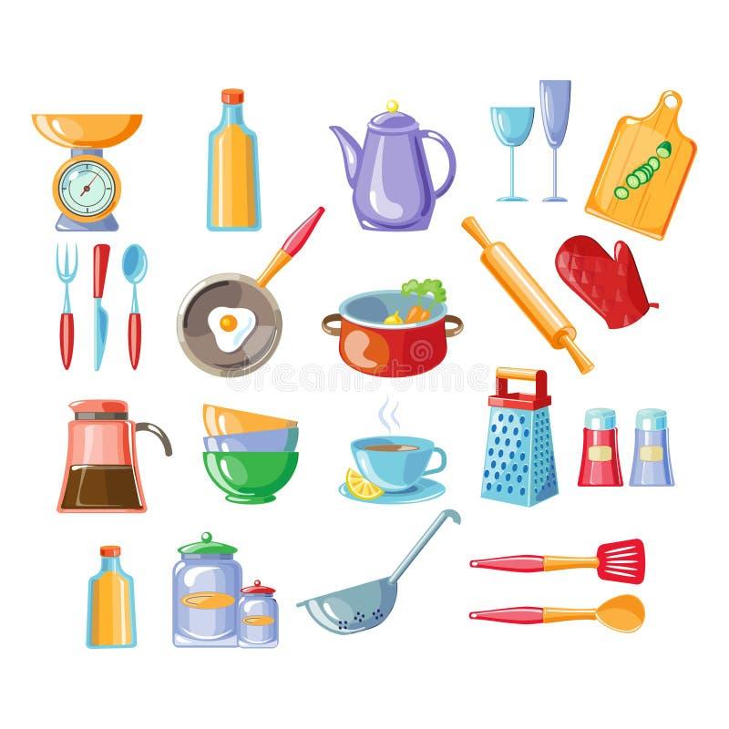 Küche bearbeitet Vektor-Illustration lizenzfreie abbildung