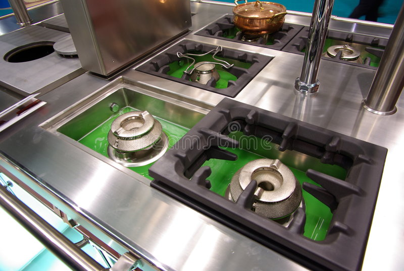 Küche cooktops lizenzfreies stockbild