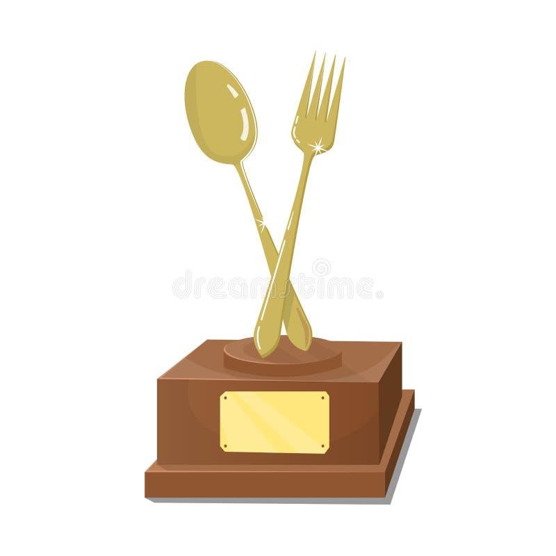 Küche des ersten Preises Goldtrophäe stock abbildung