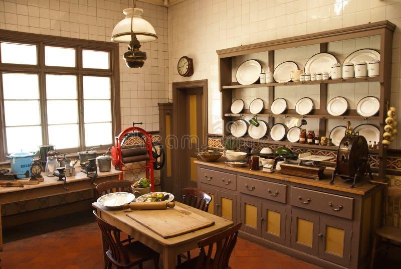 Küche des viktorianischen Stils stockfoto