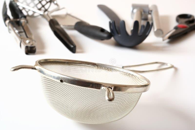 Küche-Gerät-Sieb stockfoto