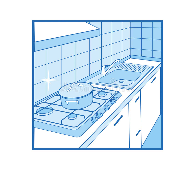 Küche-Ikone stockfoto