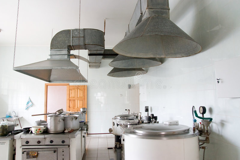 Küche im Krankenhaus lizenzfreie stockfotos