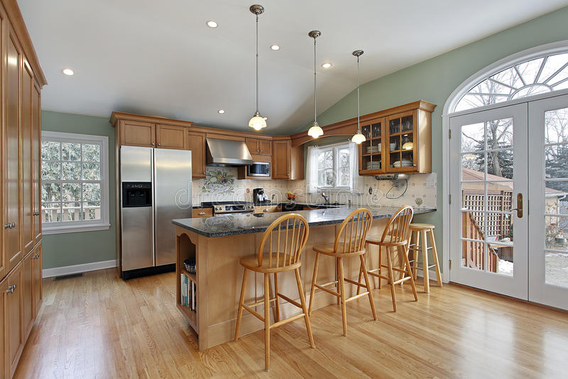 Küche im modernen Haus stockfotos