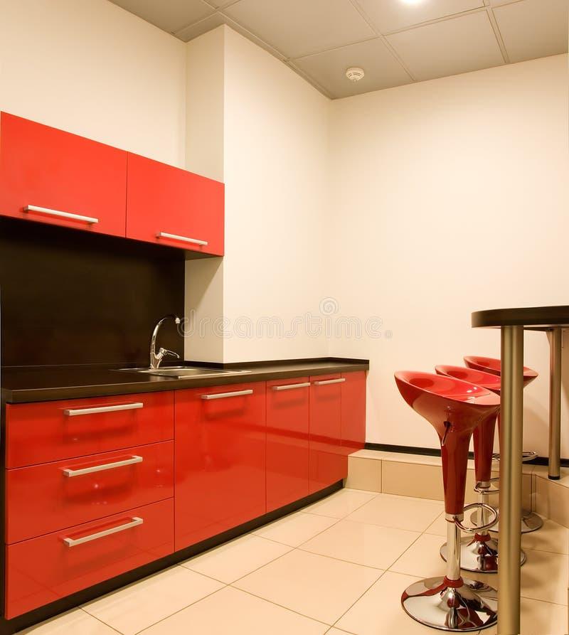 Küche mit einem Stab stockbild