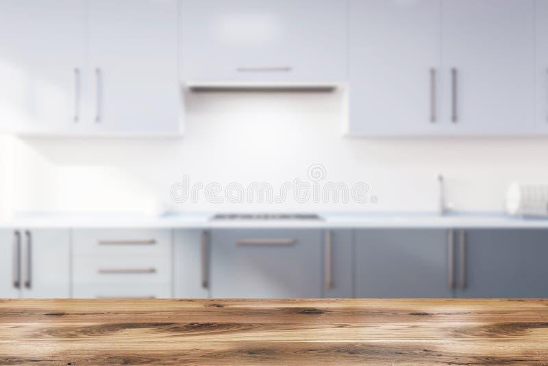 Küche mit grauer Countertopsunschärfe vektor abbildung
