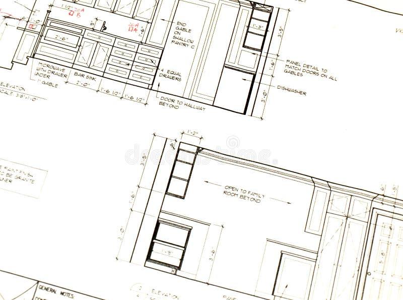 Küche-Plan stockfoto. Bild von entwerfer, install, plan - 7280312