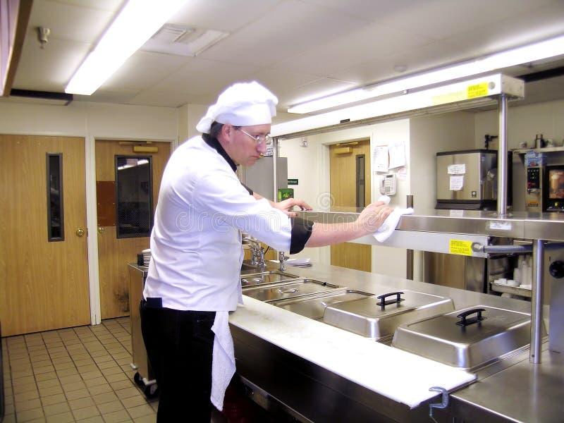 Küche-Reinigung stockfoto