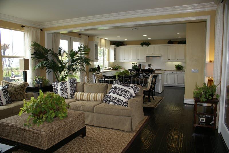 Küche und Familien-Raum   stockbilder