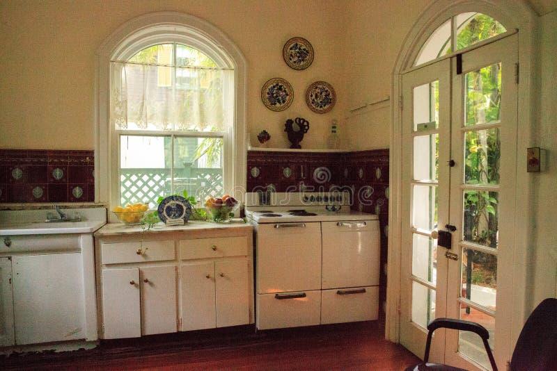 Küche von Ernest Hemingwayâ-€™s Haus in Key West stockfotografie