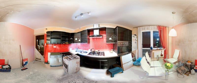 Kücheerneuerunganatomie stockfotografie