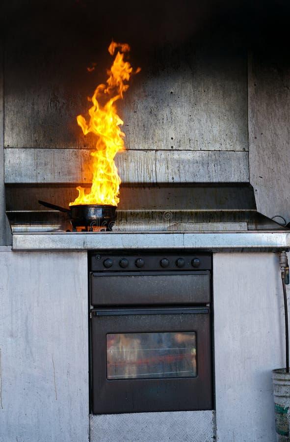 Küchefeuer stockfotos