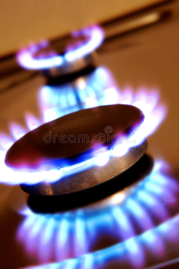 Kücheflammen lizenzfreie stockfotografie