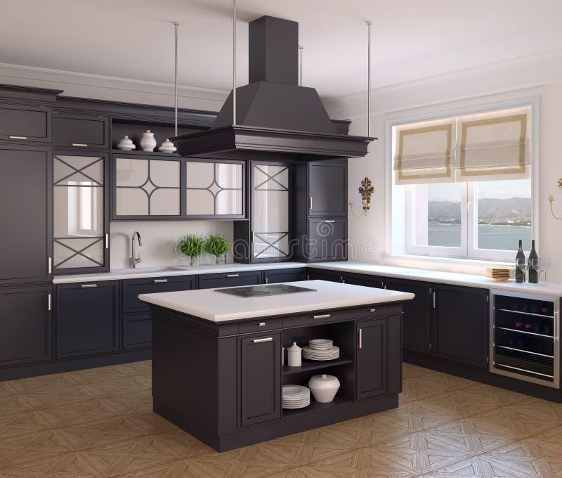 Kücheinnenraum. vektor abbildung